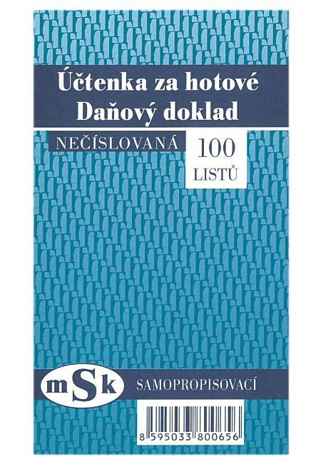 Uctenka Za Hotove Necislovana Msk 65 Propisovaci Online