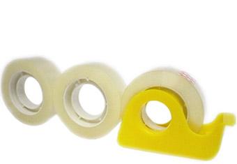 Lepicí páska 18 mm x 33 m, čirá balení 3 ks + odvíječ