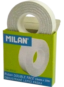 Lepicí páska MILAN oboustranná 15 mm x 10 m, tenká čirá