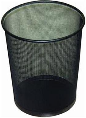 Drátěný odpadkový koš černý velký 16 litrů