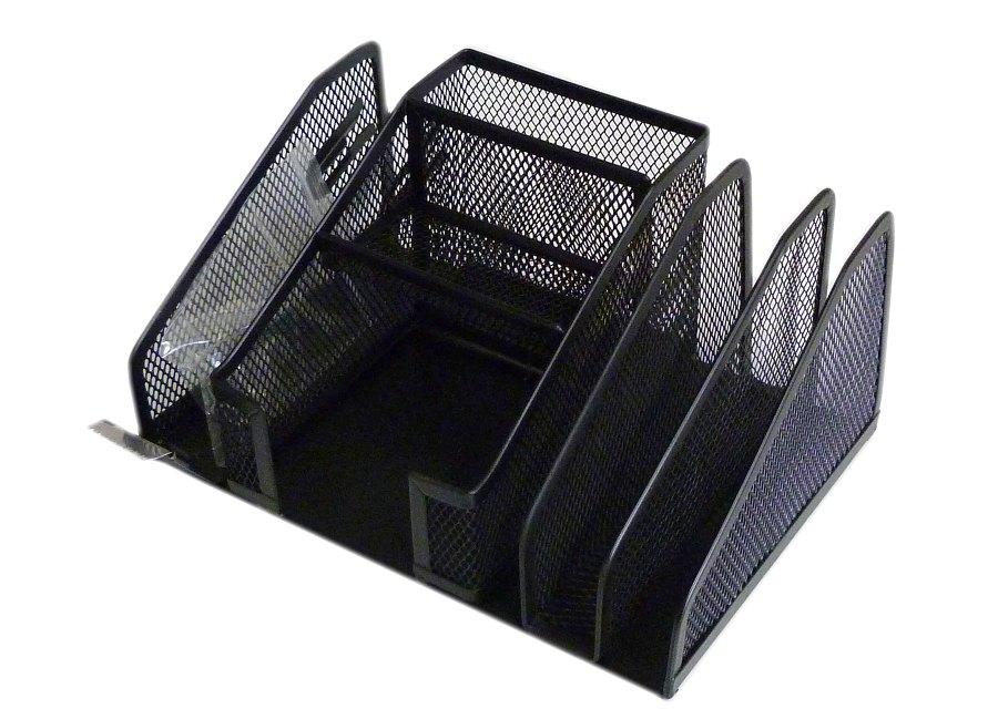 Drátěný stojánek multifunkční, černý