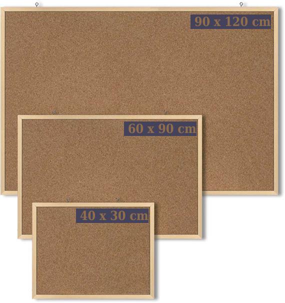 Korková tabule 90 x 120 cm oboustranná-dřevěný rám