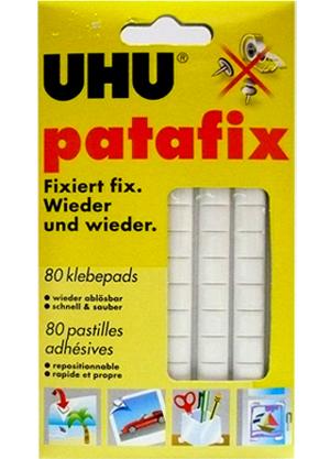 Lepicí guma UHU Tac PATAFIX, lepicí polštářky - bílé