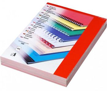 Karton Chromolux A4 100 ks červená, lesklá