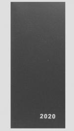 Diář 2019 měsíční plánovací VM1-1 PVC černá