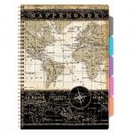 Blok spirálový s pořadačem 80 listů Maps 1548-0218