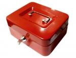 Kovová pokladna č.22 (200 x 160 x 90 mm) červená