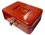 Kovová pokladna č.33 (250 x 180 x 90 mm) červená