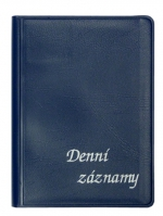 Diář denní záznamy A6 na výšku - modrá ZO 1021