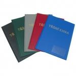 Desky A4 na třídní knihu s okénkem - PVC modrá