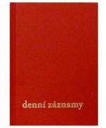 Diář denní záznamy A5, Těšín - prešpán červená