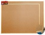 Korková tabule 90 x 120 cm dřevěný rám - minimální odběr 2ks