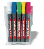 Edding 725/5S, neon board marker sada 5 barev