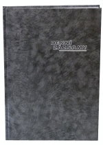 Diář denní záznamy A4, ZO 1031-01, OTK Hořovice - černá mramor