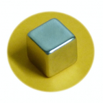 Magnet super silný, chrom cube 10x10x10 mm