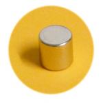 Magnet super silný, chrom válec 10x10x10 mm