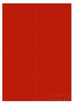 Etikety 105x74 mm červené, balení 500 listů