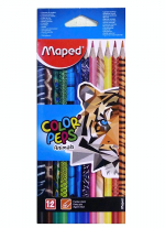 Pastelky MAPED trojhranné 12 ks Color peps Animals