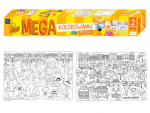 Mega omalovánka 100 x 70 cm 2 listy - Město