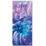 Diář 2019 měsíční plánovací VM1-2 lamino - chryzantéma