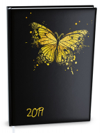 Diář 2019 denní  B6 Adam - Motýl - BDA9 4