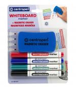 Popisovač CENTROPEN 8559/4 white board marker, stíratelný + magnetická houba