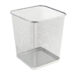 Drátěný odpadkový koš stříbrný 27 x 27 x 31 cm