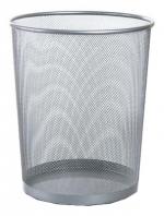 Drátěný odpadkový koš stříbrný velký 16 litrů