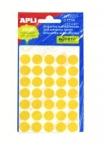 SLE APLI - 5 archů průměr 13 mm - žlutá