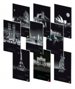 Sešit A4 linkovaný ELISA 40 listů - 10 ks mix - metropole v noci