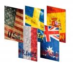 Sešit A4 linkovaný ELISA 40 listů - 10 ks mix - vlajky