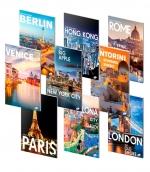 Sešit A4 linkovaný ELISA 40 listů - 10 ks mix - světové metropole
