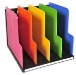 Exacompta třídící box, A4 maxi, 4 přihrádky, vertikální, duhový