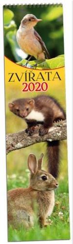 Kalendář 2020 nástěnný měsíční - Zvířata - KN 151