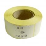 Etikety na kotouči 32 x 25 mm, na roli 1000 ks