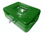 Kovová pokladna č.33 (250 x 180 x 90 mm) zelená