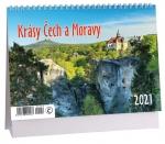 Kalendář 2021 stolní - Krásy Čech a Moravy - K 446