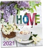 Kalendář 2021 nástěnný - Home design KNCD 183