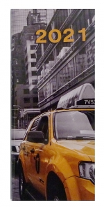Diář 2021 měsíční plánovací VM1-2 lamino Taxi