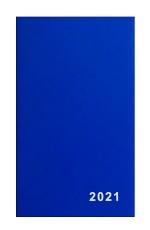 Diář 2021 týdenní VT1-1 PVC modrý
