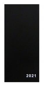 Diář 2021 měsíční plánovací VM1-1 PVC černá
