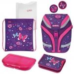 Školní taška Herlitz SoftFlex Motýl - vybavená