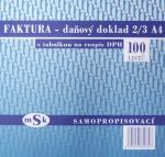 Faktura 2/3 A4 s rozpisem DPH MSK 39, propisovací