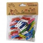 Kolíčky dřevěné barevné 3 cm  - 50 ks