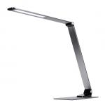 Solight LED stolní lampička stmívatelná, 11W, změna chromatičnosti, broušený hliník, stříbrná