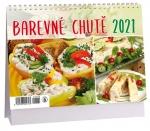 Kalendář 2021 stolní - Barevné chutě 14-denní - K 480