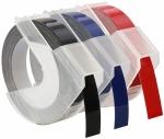 Dymo pásky sada 9mm x 3 metry - červená/modrá/černá