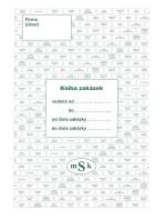 Kniha zakázek MSK 347