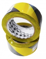 Páska bariérová žluto/černá samolepicí 50 mm x 33 m