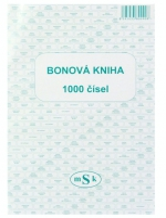 Bonová kniha A4 20 stvrzenek na listu MSK 90